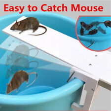 Walk Plank Mouse Trap  Mice Rat Trap Auto Reset Rodent Bucket Board -Non Poison