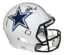 Troy Aikman Autographed Dallas Cowboys Authentic Flat White Helmet BAS 26547