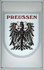Preussen Wappen Adler Blechschild Schild 3D geprägt gewölbt Tin Sign 20 x 30 cm