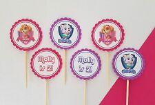 Paw Patrol Skye Everest Girls personalised 12 pack cupcake toppers picks