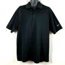Nike Golf L Mens Polo Shirt black performance textured collared dri fit