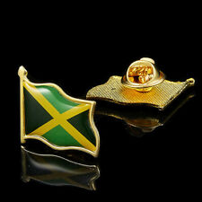 Pin Badge Multicolor Pin Brooch Badge Jamaica Nation Gold Plated Flag Lapel