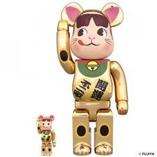 Medicom 400% & 100% Be@rbrick Fujiya Peko maneki neko GOLD ver LTD Bearbrick F/S