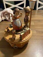 "Thorens Swiss Music Box ""Lili Marlene"" Family Measures 10 Inches Tall"