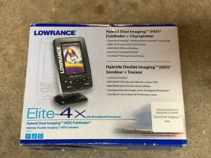 NEW Lowrance Elite-4x Hybrid Color Fishfinder + 83/200 Transducer