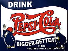 Pepsi Cola, stile retrò in metallo Frigo Calamita, 100 mm x 75 mm NOVITA 'REGALO