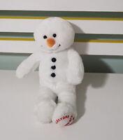 STUFFLER SNOWMAN TEDDY BEAR PLUSH TOY! SOFT TOY ABOUT 28CM TALL KIDS TOY