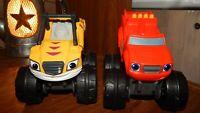 Blaze & The Monster Machines Slam & Go Push Truck Blaze and Stripes toy trucks