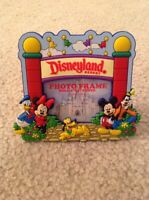 Disneyland Fab 5 Mickey Minnie Pluto Donald Marquee Magnet Picture Photo Frame