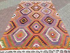 "Anatolia Turkish Antalya (Barak) Kilim 69,6"" x 115,3"" Area Rug Carpet"