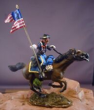 54mm 7th Cavalry Mounted Guidon Bearer Resin Unassembled Kit