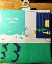 """Pillowfort Alligator Shower Curtain 72"""" X 72"""" New With Tags"""