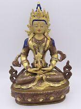 "Antique? Nepalese? Aparmita Buddha parcel gilt copper 8"""