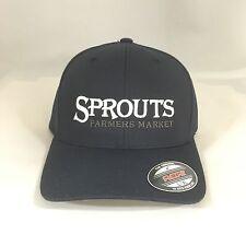Sprouts Farmers Market Flexfit Cap 6477 Wool Blend Hat Yupoong Dark Navy L/XL