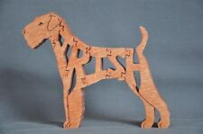 Irish Terrier Dog Wooden Amish Toy Puzzle New Made in Usa Great Gift!