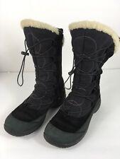 Womens Size 6.5 Merrell Black Boots Side Zipper Opti-warm 200 Gram Insulation