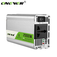 12v 2000W Inverter Modified Sine Wave 12 Volt Car Voltage Converter USB Charger