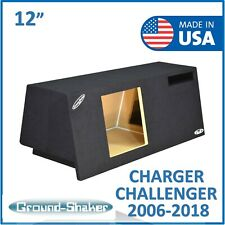 "Dodge Challenger 12"" PORTED sub box Subwoofer enclosure For kicker Solo Baric"