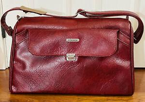 1960's Vintage Samsonite Sonora II Red/Maroon Bag Briefcase Carry On Suitcase