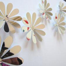 12x 3d flower art mirror wall sticker decal mural diy home room acrylic decor PD