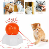 Cat Toy LED Interactive Automatic Electric Rotating Ball Cats Play Toys for Pet