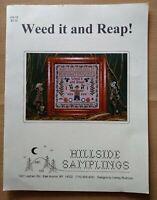 Hillside Samplings Weed It & Reap Cross Stitch Chart Pattern Fall Garden Sampler
