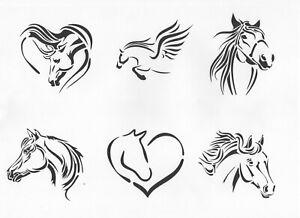 6 Horse Stencils