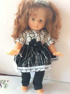 """Vintage Corolle Doll Vinyl and Cloth 14"""" beautiful doll & clothes"""
