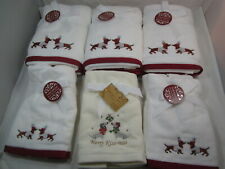 Huge Lot Luxe Habitat Dachshund Wiener Dog Doxie Christmas Hand FingerTip Towels