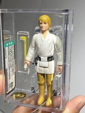 AFA 85+ Star Wars 1977 Loose Luke Skywalker Farmboy Brown Hair Dark Pants NM+