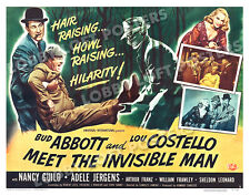 ABBOTT AND COSTELLO MEET THE INVISIBLE MAN LOBBY CARD POSTER HS-B 1951