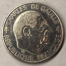 1 Franc  De Gaulle 1988 Monnaie Française Commémorative TTB Minimum