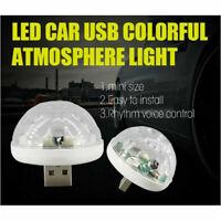 Mini Car Interior Atmosphere Neon Light Colorful LED USB RGB Decor DJ Party Lamp