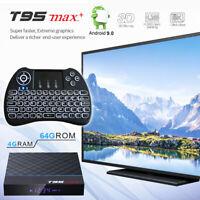 Android 9.0 T95 MAX+ Plus 8K HDR Bluetooth 4.0 Dual WiFi 64GB/4GB DDR3 TV Box