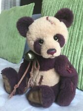 Charlie bear, Isabelle collection - Carey - Ltd 168/200 gorgeous panda, new