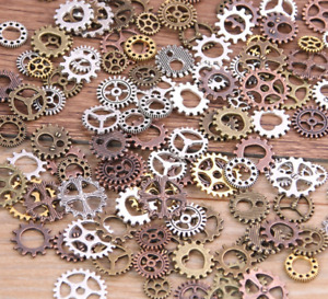 Mix Alloy Mechanical Steampunk Cogs & Gears Diy Jewelry Making Accessories 60pcs