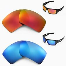 Walleva Polarized Fire Red + Ice Blue  Replacement Lenses For Oakley Eyepatch 2