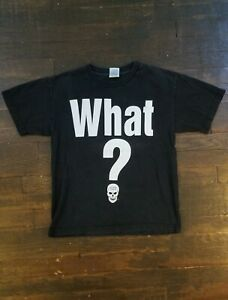 Vintage VTG Y2K Late 90s Stone Cold Steve Austin WHAT? Tee Shirt Size Youth XL