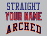 Straight or Arched Team Name Lettering Tackle Twill Pro Cut for Uniform Jersey