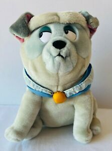 POCAHONTAS Percy Pug Dog Plush Soft Stuffed Toy Doll Applause Walt Disney 23cm