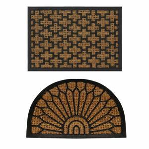 Natural Coir Rubber Non Slip Doormat Floor Entrance Door Mat Indoor Outdoor