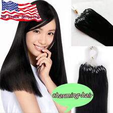 Loop Micro Ring Beads Tip Link Brazilian Remy Human Hair Extensions 50g/100gr 7A