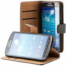 Samsung Galaxy S4 Active i9295 Coque de protection Housse Pochette wallet noir