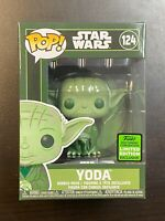 Funko POP Star Wars Green Yoda Military #124 ECCC Exclusive IN HAND