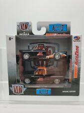 D1 M2 Machines Auto Zone Exclusive Auto-Lift Chevrolet Silverado Truck Set