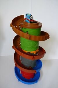 3 Spiral Towers and Tracks and Thomas Engine (all towers stackable) Fisher-Price