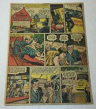 1947 SAM SPADE Wildroot cartoon ad page ~ Box Car Bandit