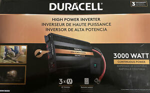 Duracell Power 3000 W 12v Inverter DRINV3000 3 AC Outlets Remote New W Free Ship