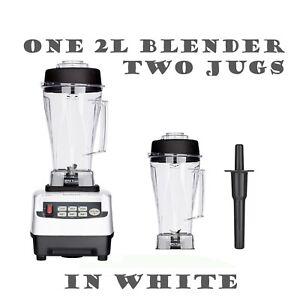 JTC OmniBlend Pro Commercial Blender + 2 Jugs Ice Crusher Smoothie Milkshake Bar