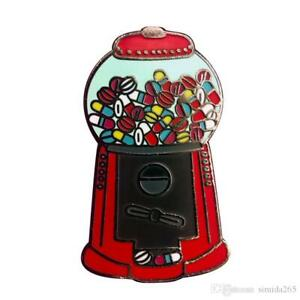 Gumball Bubble Gum Machine Retro 80s Lapel Pin Badge Brooch Sweets Candy Gum